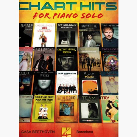 Chart hits (for solo piano) (20 pieces : All of me, Let her go